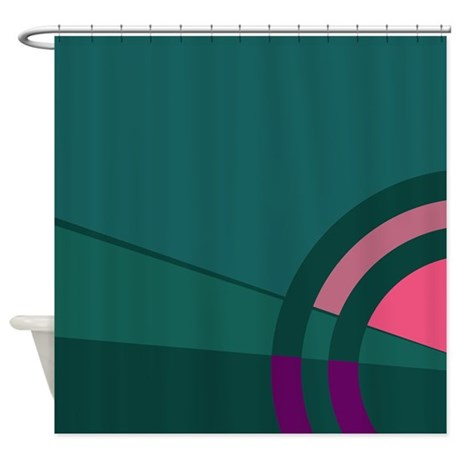 Teal Pink And Purple Majestic Shower Curtain By CopperCreekDesignStudio