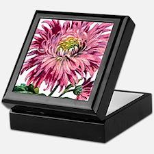 Pink Chrysanthemum Keepsake Box