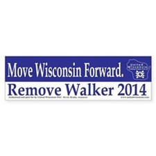 Move Wisconsin Forward Bumper Bumper Sticker