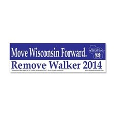 Move Wisconsin Forward Car Magnet 10 x 3