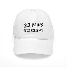 33 years birthday designs Baseball Cap