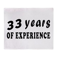 33 years birthday designs Throw Blanket