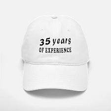 35 years birthday designs Baseball Baseball Cap
