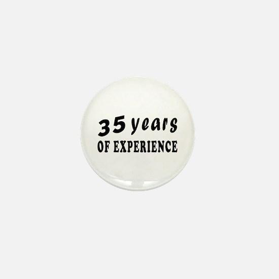 35 years birthday designs Mini Button