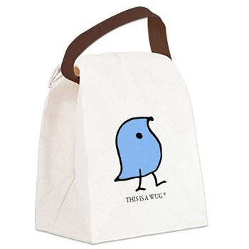 This is a Wug Canvas Lunch Bag