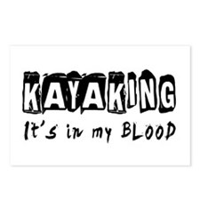 Kayaking Designs Postcards (Package of 8)