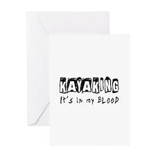 Kayaking Designs Greeting Card