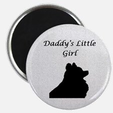 Daddys LIttle Girl Silhouette Magnet