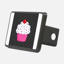 Pink Cupcake on Polka Dots Hitch Cover