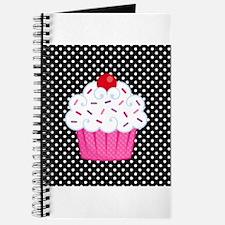 Pink Cupcake on Polka Dots Journal