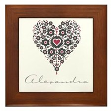 Love Alexandra Framed Tile