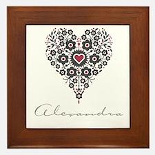 Love Alexandra Framed Tile