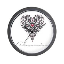 Love Alexandra Wall Clock