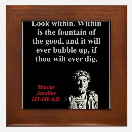 Look Within - Marcus Aurelius Framed Tile