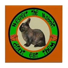 WESPECT the WABBIT Tile Coaster
