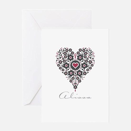 Love Alissa Greeting Card