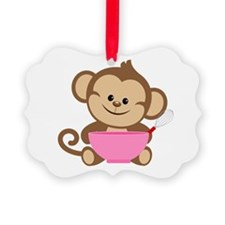 Baking Monkey Ornament