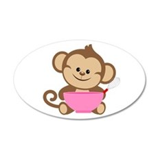 Baking Monkey Wall Decal