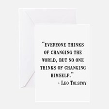 Leo Tolstoy Quote Greeting Card