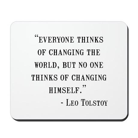 Leo Tolstoy Quote Mousepad