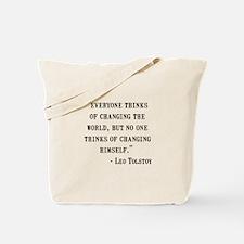 Leo Tolstoy Quote Tote Bag