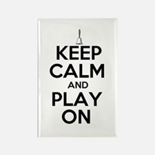 Keep Calm and Play On Handbells Rectangle Magnet (