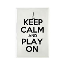 Keep Calm and Play On Handbells Rectangle Magnet