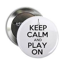 "Keep Calm and Play On Handbells 2.25"" Button (100"