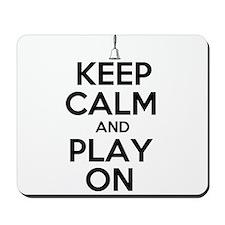Keep Calm and Play On Handbells Mousepad