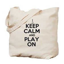 Keep Calm and Play On Handbells Tote Bag