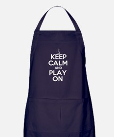 Keep Calm and Play On Handbells Apron (dark)