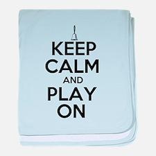 Keep Calm and Play On Handbells baby blanket