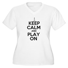 Keep Calm and Play On Handbells Plus Size T-Shirt