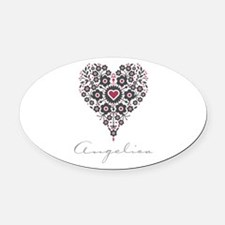 Love Angelica Oval Car Magnet