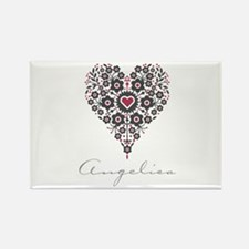 Love Angelica Rectangle Magnet