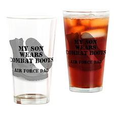 AF Dad Son Wears CB Drinking Glass
