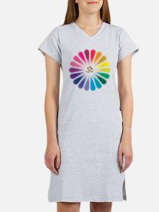 Om Rainbow Flower Women's Nightshirt