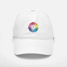 Om Rainbow Flower Baseball Baseball Baseball Cap