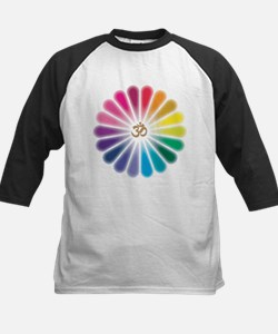 Om Rainbow Flower Baseball Jersey
