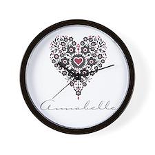 Love Annabelle Wall Clock