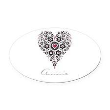 Love Annie Oval Car Magnet