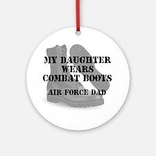 AF Dad Daughter Wears CB Ornament (Round)