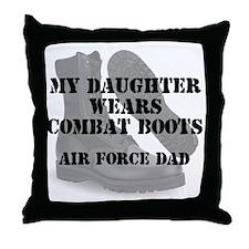 AF Dad Daughter Wears CB Throw Pillow