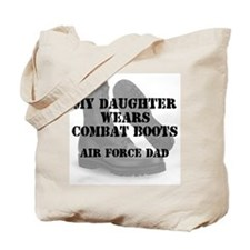AF Dad Daughter Wears CB Tote Bag