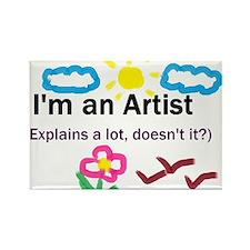 I'm an Artist Rectangle Magnet