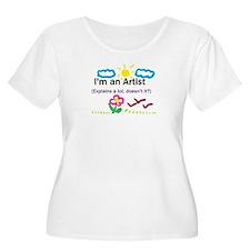 I'm an Artist Plus Size T-Shirt