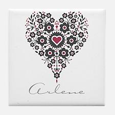 Love Arlene Tile Coaster