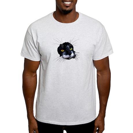 Black and White Cat Face Light T-Shirt