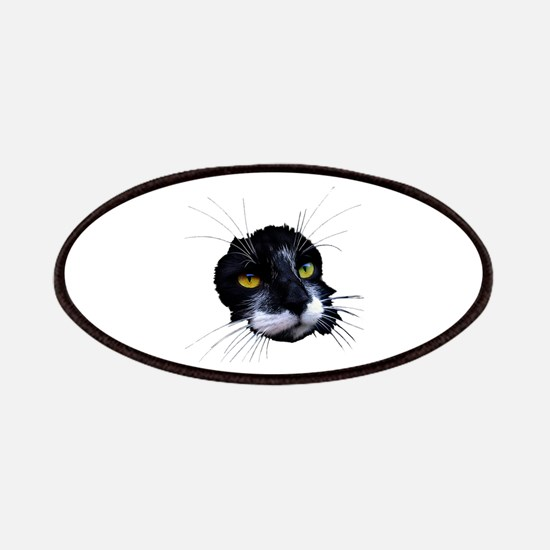 Black and White Cat Face Patches