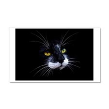 Black and White Cat Face Car Magnet 20 x 12